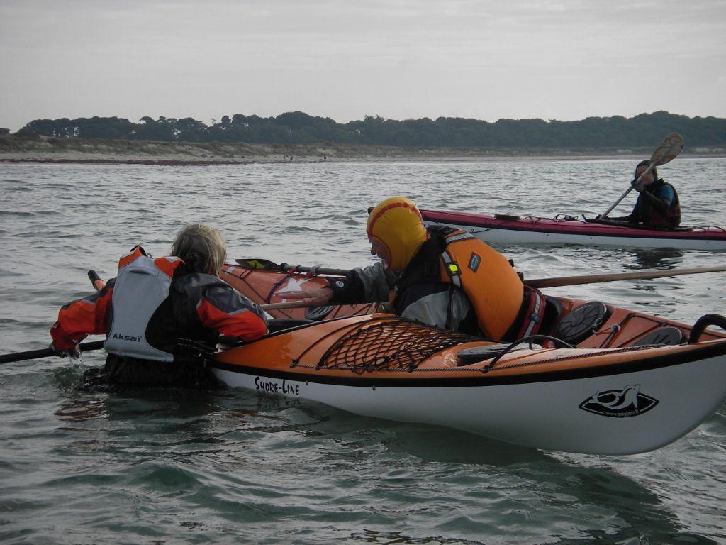récupération en kayak